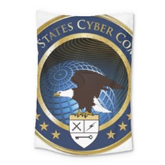 Seal Of United States Cyber Command Small Tapestry by abbeyz71