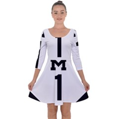 Michigan Highway M-1 Quarter Sleeve Skater Dress by abbeyz71