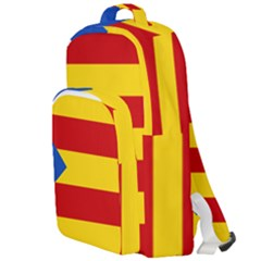 Blue Estelada Catalan Independence Flag Double Compartment Backpack by abbeyz71