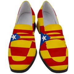 Blue Estelada Catalan Independence Flag Women s Chunky Heel Loafers by abbeyz71