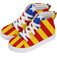 Blue Estelada Catalan Independence Flag Kids  Hi-top Skate Sneakers by abbeyz71