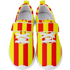 Red Estelada Catalan Independence Flag Men s Velcro Strap Shoes by abbeyz71