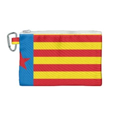 Valencian Nationalist Senyera Canvas Cosmetic Bag (medium) by abbeyz71