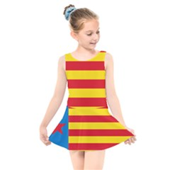 Valencian Nationalist Senyera Kids  Skater Dress Swimsuit by abbeyz71