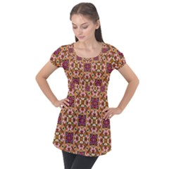 Lawless Garden Puff Sleeve Tunic Top by bykenique