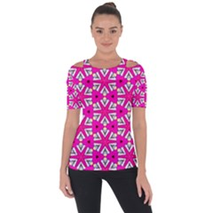 Karnival Shoulder Cut Out Short Sleeve Top by bykenique