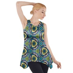 Quirky Kaleidoscope Side Drop Tank Tunic by bykenique