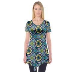 Quirky Kaleidoscope Short Sleeve Tunic  by bykenique