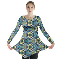 Quirky Kaleidoscope Long Sleeve Tunic  by bykenique