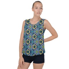 Quirky Kaleidoscope Bubble Hem Chiffon Tank Top by bykenique