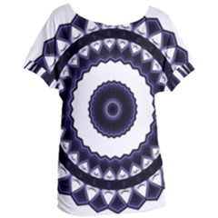 Design Mandala Pattern Circular Women s Oversized Tee by Pakrebo