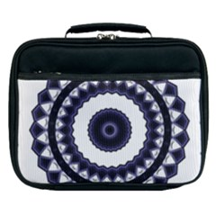 Design Mandala Pattern Circular Lunch Bag by Pakrebo
