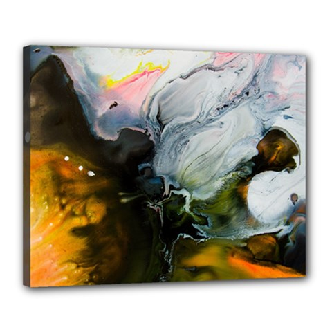 Art Abstract Painting Canvas 20  X 16  (stretched) by Pakrebo