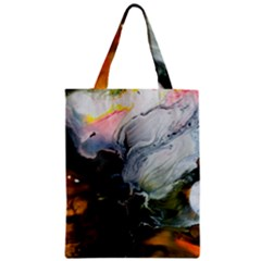 Art Abstract Painting Zipper Classic Tote Bag by Pakrebo