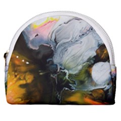 Art Abstract Painting Horseshoe Style Canvas Pouch by Pakrebo