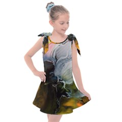 Art Abstract Painting Kids  Tie Up Tunic Dress by Pakrebo