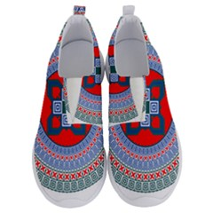 Design Circular Aztec Symbol No Lace Lightweight Shoes