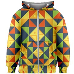 Background Geometric Color Kids  Zipper Hoodie Without Drawstring by Pakrebo