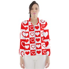 Background Card Checker Chequered Windbreaker (women)
