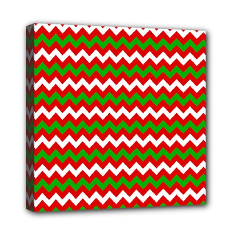 Christmas Paper Scrapbooking Pattern Mini Canvas 8  X 8  (stretched)