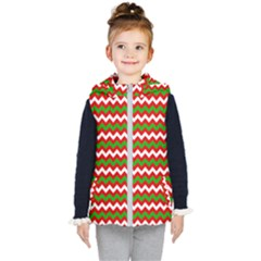 Christmas Paper Scrapbooking Pattern Kids  Hooded Puffer Vest