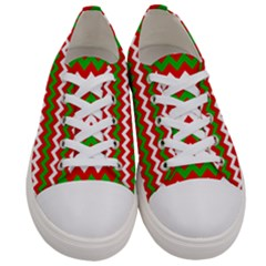 Christmas Paper Scrapbooking Pattern Women s Low Top Canvas Sneakers