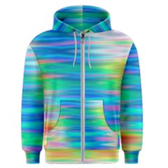 Wave Rainbow Bright Texture Men s Zipper Hoodie