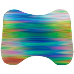 Wave Rainbow Bright Texture Head Support Cushion