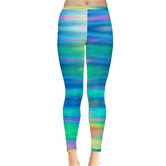 Wave Rainbow Bright Texture Inside Out Leggings