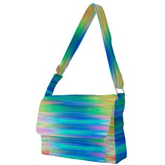 Wave Rainbow Bright Texture Full Print Messenger Bag