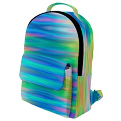 Wave Rainbow Bright Texture Flap Pocket Backpack (small)