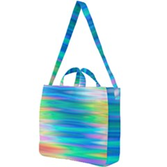 Wave Rainbow Bright Texture Square Shoulder Tote Bag
