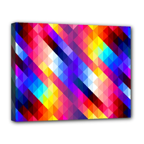 Abstract Background Colorful Pattern Canvas 14  X 11  (stretched)