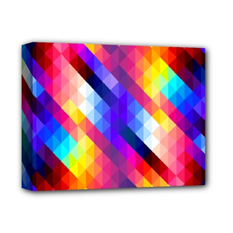 Abstract Background Colorful Pattern Deluxe Canvas 14  X 11  (stretched) by Pakrebo