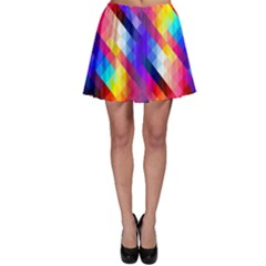 Abstract Background Colorful Pattern Skater Skirt