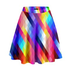 Abstract Background Colorful Pattern High Waist Skirt