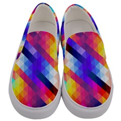 Abstract Background Colorful Pattern Men s Canvas Slip Ons