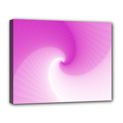 Abstract Spiral Pattern Background Canvas 14  X 11  (stretched)
