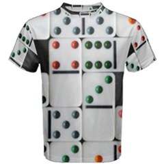 Woah, Domino Men s Cotton Tee by WensdaiAmbrose
