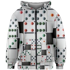 Woah, Domino Kids  Zipper Hoodie Without Drawstring by WensdaiAmbrose