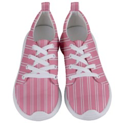 Nice Stripes  In Flamingo Pink Women s Lightweight Sports Shoes