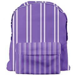 Nice Stripes In Royal Purple Giant Full Print Backpack by TimelessFashion