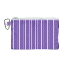 Nice Stripes In Royal Purple Canvas Cosmetic Bag (medium)