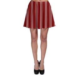Nice Stripes In Maroon Red Skater Skirt by TimelessFashion