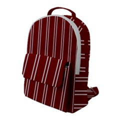 Nice Stripes In Maroon Red Flap Pocket Backpack (large) by TimelessFashion