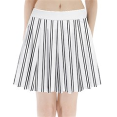 Nice Stripes In White  Pleated Mini Skirt by TimelessFashion