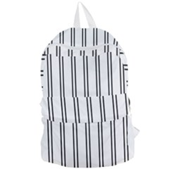 Nice Stripes In White  Foldable Lightweight Backpack by TimelessFashion