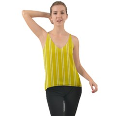 Nice Stripes In Corn Yellow  Chiffon Cami
