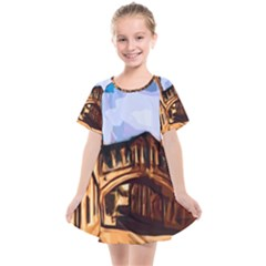 Street Architecture Building Kids  Smock Dress