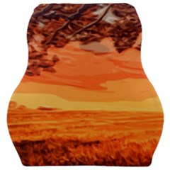 Field Sunset Orange Sky Land Car Seat Velour Cushion